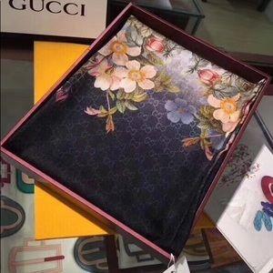 Gucci Floral Shawl Gucci Monogram Scarf